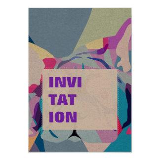 El dogo francés invitación 12,7 x 17,8 cm