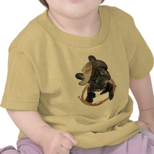 El DOGO FRANCÉS LLEVA la ropa del LAZO Camiseta
