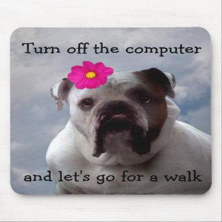 El dogo quiere ir para un paseo, cojín de ratón alfombrillas de ratón