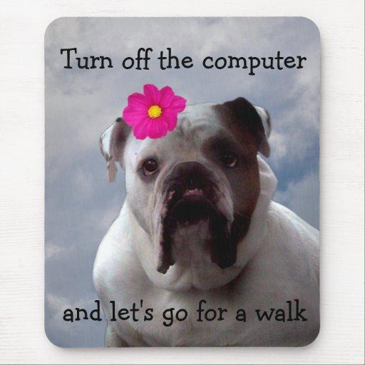 El dogo quiere ir para un paseo, cojín de ratón tapete de raton