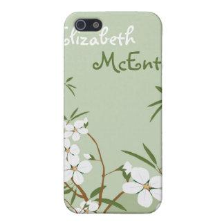 El Dogwood floral verde personalizó la caja del iP iPhone 5 Funda