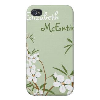 El Dogwood floral verde personalizó la caja del iP iPhone 4 Protectores