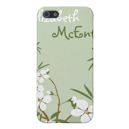 El Dogwood floral verde personalizó la caja del iPhone 5 Fundas