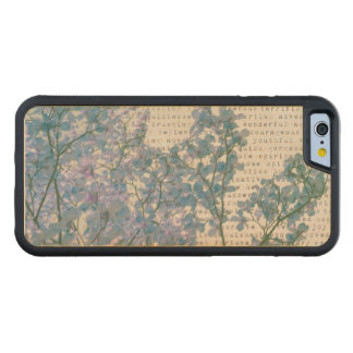 El Dogwood florece arte púrpura de la naturaleza Funda De iPhone 6 Bumper Arce