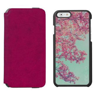 El Dogwood florece arte teñido rosa de la Funda Cartera Para iPhone 6 Watson