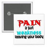 El dolor es apenas debilidad que deja su cuerpo pins