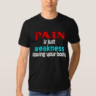 El dolor es apenas debilidad que deja su cuerpo polera