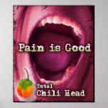 El dolor es bueno - lona principal total de Chil Posters