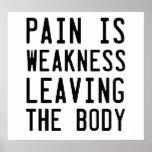 El dolor es debilidad que sale del cuerpo impresiones