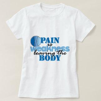 El dolor es debilidad que sale del cuerpo - tenis playeras