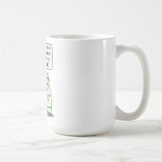El dolor es la manera de la naturaleza de taza de café