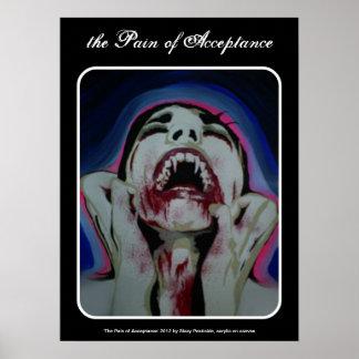 """""""el dolor poster del vampiro de la aceptación"""" póster"""