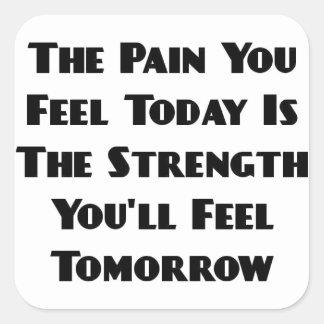 El dolor que usted siente es hoy el pegatina de la