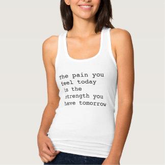 El dolor usted siente hoy las camisetas sin mangas
