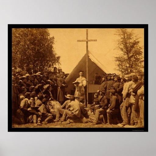 El domingo por la mañana masa católica 1861 posters