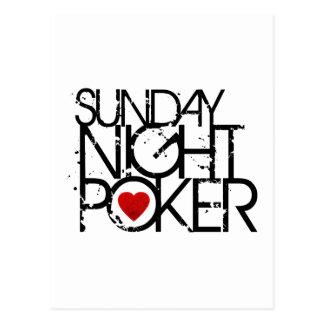 El domingo por la noche póker tarjeta postal