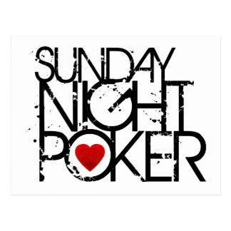 El domingo por la noche póker postal