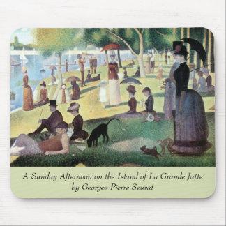 El domingo por la tarde, La grande Jatte de la Alfombrillas De Ratones