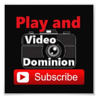 El dominio video YouTube suscribe y juega Cojinete
