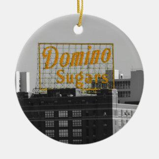 El dominó azucara Baltimore Adorno Redondo De Cerámica