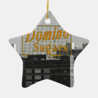El dominó azucara Baltimore Adornos De Navidad