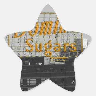 El dominó azucara Baltimore Pegatina En Forma De Estrella