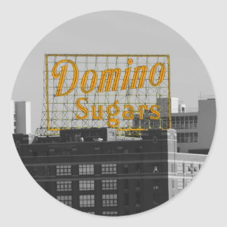 El dominó azucara Baltimore Pegatina Redonda