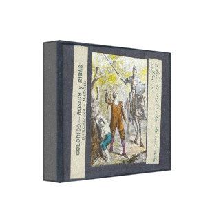 El Don Quijote de la diapositiva de linterna Impresiones En Lienzo Estiradas