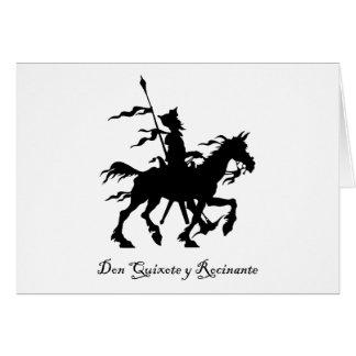 El Don Quijote monta otra vez Tarjeta De Felicitación