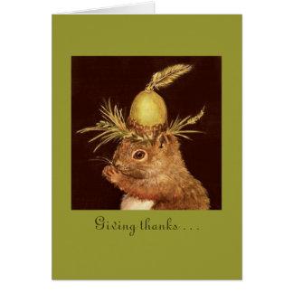 El donante agradece… por usted en mi tarjeta de la