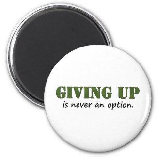 El donante para arriba nunca es una opción imán redondo 5 cm