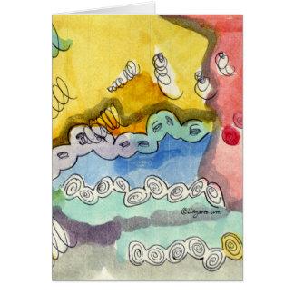 El Doodle abstracto de Steve Tarjeta De Felicitación