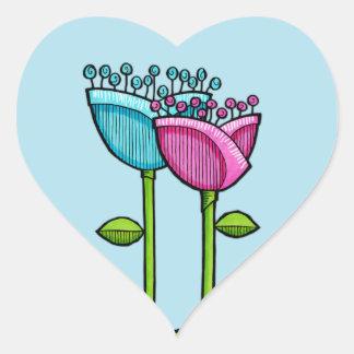 El Doodle de la diversión florece al pegatina