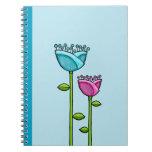 El Doodle de la diversión florece el cuaderno rosa