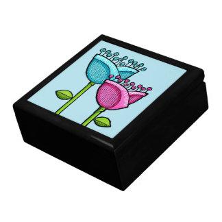 El Doodle de la diversión florece la caja de regal Caja De Recuerdo