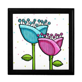 El Doodle de la diversión florece la caja de regal Cajas De Joyas