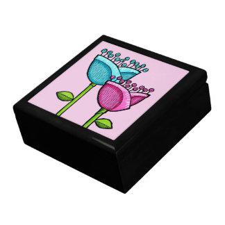 El Doodle de la diversión florece la caja de regal Cajas De Regalo