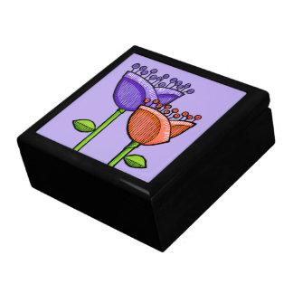 El Doodle de la diversión florece la caja de regal Caja De Joyas