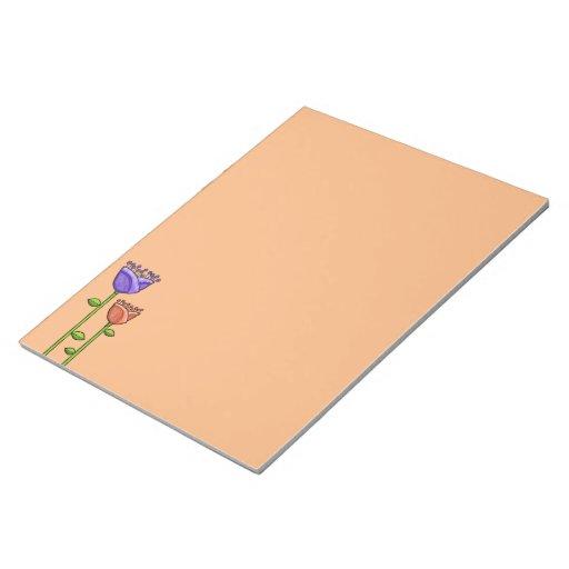 El Doodle de la diversión florece la libreta púrpu Libreta Para Notas