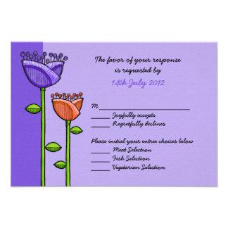 El Doodle de la diversión florece la tarjeta anara