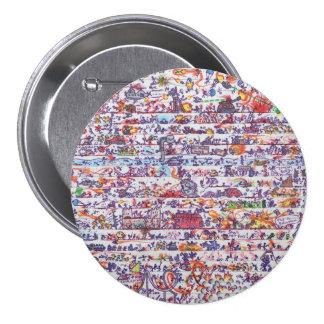 El Doodle guerrea insignia del botón Pins
