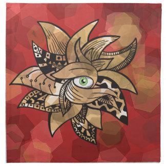 El doodle (impresionante) bonito del tercer ojo servilleta de papel