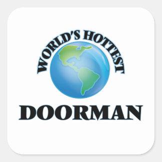 El Doorman más caliente del mundo Colcomanias Cuadradass