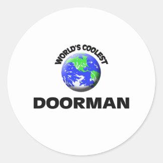 El Doorman más fresco del mundo Pegatina Redonda