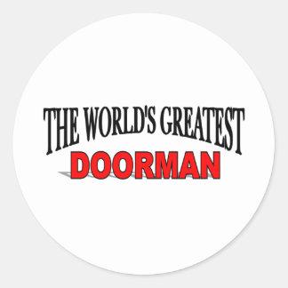 El Doorman más grande del mundo Pegatina Redonda