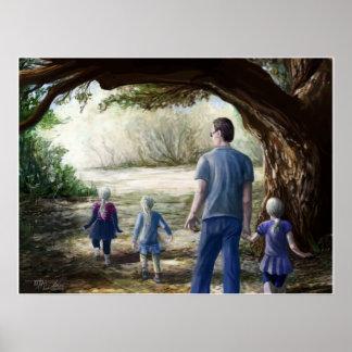 El Dorado Bridge: Nature Family Walk Print