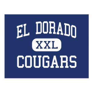 El Dorado - Cougars - High - Placerville Postcard