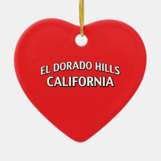 El Dorado Hills California Ceramic Ornament