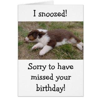 el dormir australiano del perrito felicitaciones