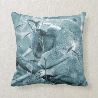 el dormir c azul de la cabeza de la koala abajo cojín decorativo